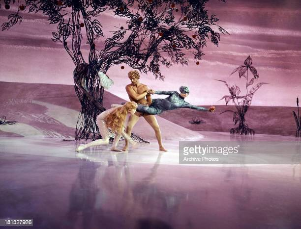 Juliet Prowse dances in a scene from the film 'CanCan' 1960