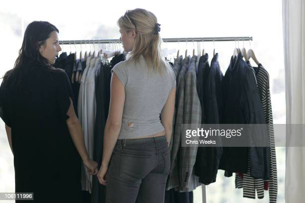 Juliet Rogulewski and Amy Smart during French Connection Fall Fashion Preview at Private Residence in Los Angeles California United States