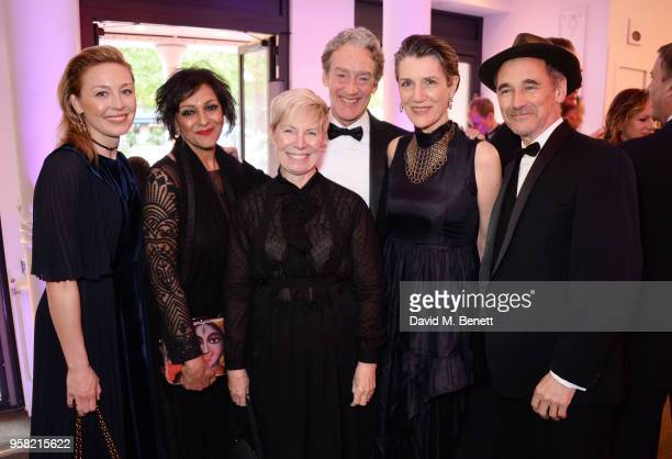 Juliet Rylance Meera Syal Claire van Kampen Guy Paul Dame Harriet Walter and Sir Mark Rylance attend The Old Vic Bicentenary Ball to celebrate the...