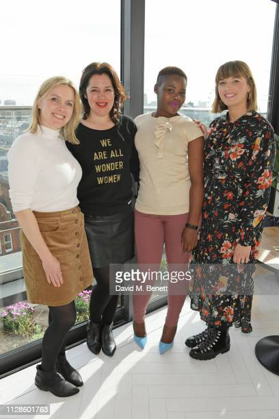 Juliet Sear Emma France Relebohile Leoatha and Clemmie Hooper attend the mothers2mothers Wonder Women Tea at Bourne Hollingsworth's Garden Room on...