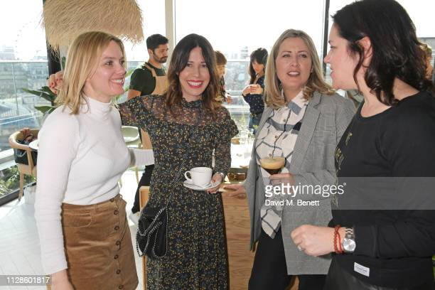 Juliet Sear Phanella Mayall Fine Clemmie Telford and Emma France attend the mothers2mothers Wonder Women Tea at Bourne Hollingsworth's Garden Room on...