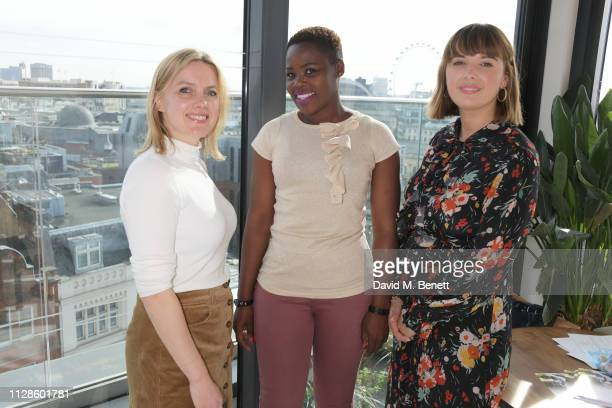 Juliet Sear Relebohile Leoatha and Clemmie Hooper attend the mothers2mothers Wonder Women Tea at Bourne Hollingsworth's Garden Room on March 4 2019...