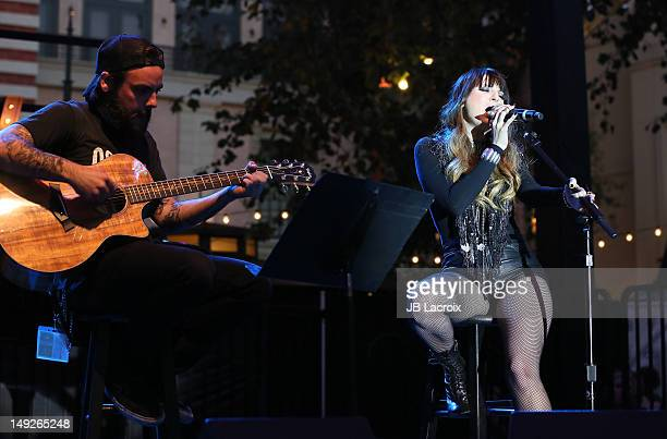 Juliet Simms performs at The Grove on July 25 2012 in Los Angeles California
