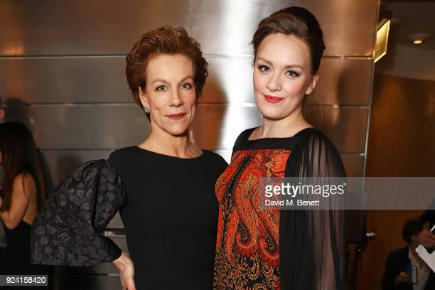 Juliet Stevenson and Rosalind Hannah Brody attend the 18th Annual WhatsOnStage Awards at the Prince Of Wales Theatre on February 25 2018 in London...