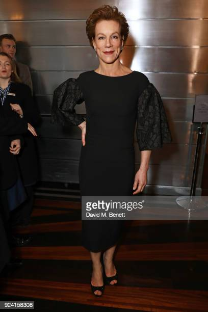 Juliet Stevenson attends the 18th Annual WhatsOnStage Awards at the Prince Of Wales Theatre on February 25 2018 in London England