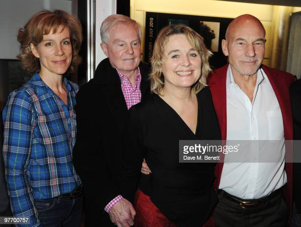 Juliet Stevenson Sir Derek Jacobi Sinead Cusack and Patrick Stewart attend the Almeida 2010 Fundraising Gala at the Almeida Theatre on March 14 2010...