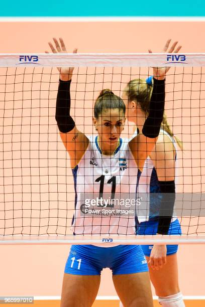 Julieta Constanza Lazcano of Argentina in action during the match between Argentina and Italy on May 30 2018 in Hong Kong Hong Kong