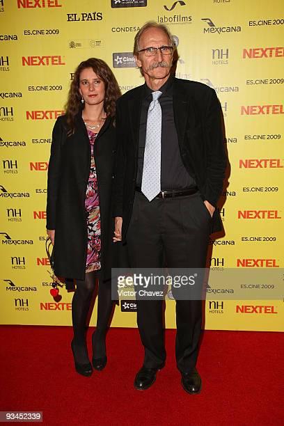 Julieta De Leon and Spain ambassador in Mexico Carmelo Angulo attends the Muestra de Cine Español EsCine 2nd Edition by Nextel at Cinepolis Diana on...