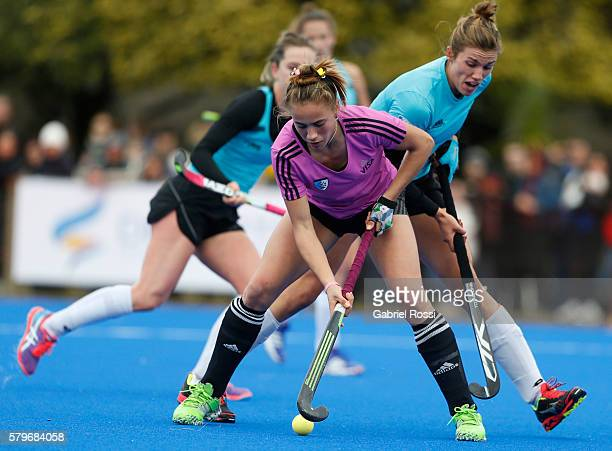 Julieta Jankunas of Argentina drives the ball during an International Friendly match between Argentina and Ireland at CenARD on July 24 2016 in...