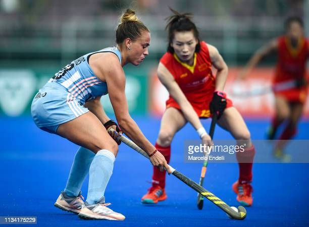 Julieta Jankunas of Argentina in action during the Women's FIH Field Hockey Pro League match between Argentina and China at Estadio Mundialista...