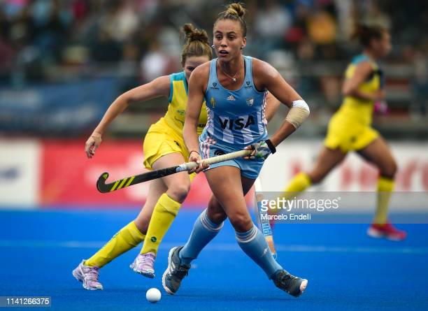 Julieta Jankunas of Argentina in action during the Women's FIH Field Hockey Pro League match between Argentina and Australia at CeNARD on May 4 2019...