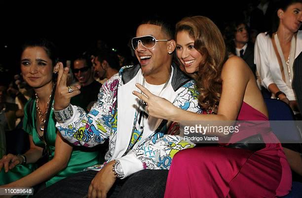Julieta Venegas, Daddy Yankee and Shakira during MTV Video Music Awards Latin America 2006 - Audience and Backstage at Palacio de los Deportes in...