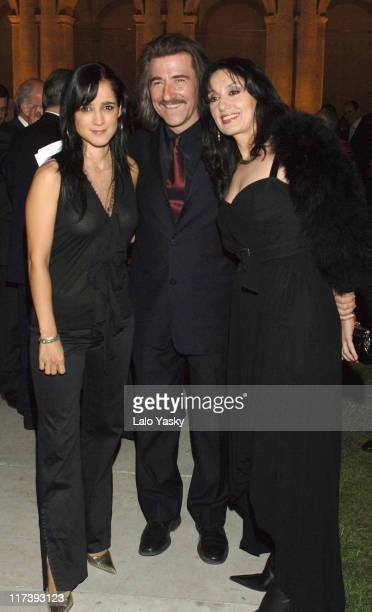 Julieta Venegas Luis Cobos and Luz Casal during Latin Recording Academy VIP Event at Museo Patio Herreriano in Valladolid Spain United States