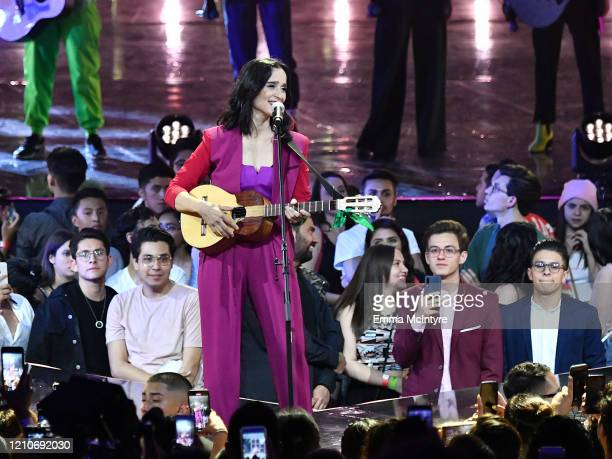 Julieta Venegas performs onstage during the 2020 Spotify Awards at the Auditorio Nacional on March 05 2020 in Mexico City Mexico