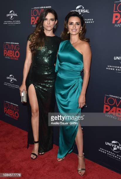 Julieth Restrepo and Penelope Cruz attend Universal Pictures Home Entertainment Content Group's 'Loving Pablo' special screening at The London West...