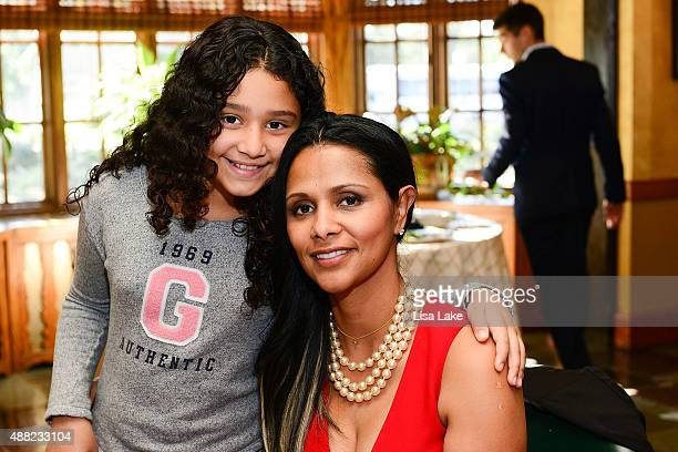 Julietta and Dorys Erving attend Ladies Champagne Caviar Luncheon hosted by Dorys Erving at Aronimink Golf Club on September 14 2015 in Newtown...