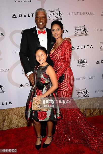 Julietta Julius and Dorys Erving attend The Julius Erving Black Tie Ball Event at The Rittenhouse Hotel on September 13 2015 in Philadelphia...