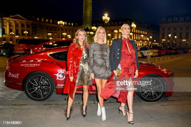 Juliette Angus Caroline Stanbury and Amanda Cronin attend the Lorenz Bäumer x Cash Rocket Jungle Cocktail Party at Place Vendôme to celebrate the...