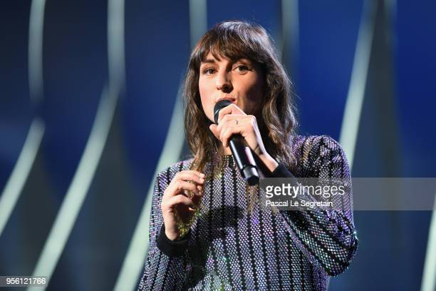 Juliette Armanet appears onstage at the Opening Ceremony during the 71st annual Cannes Film Festival at Palais des Festivals on May 8 2018 in Cannes...