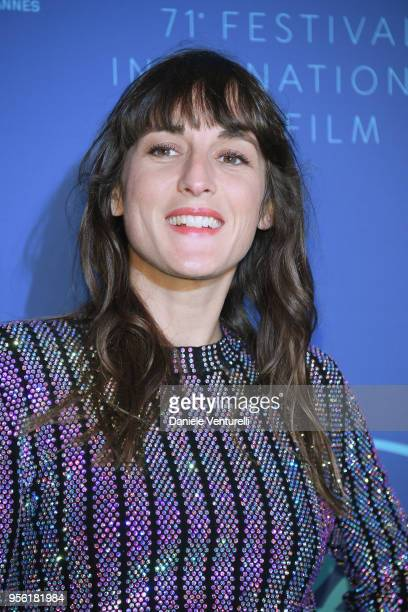 Juliette Armanet arrives at the Gala dinner during the 71st annual Cannes Film Festival at Palais des Festivals on May 8 2018 in Cannes France