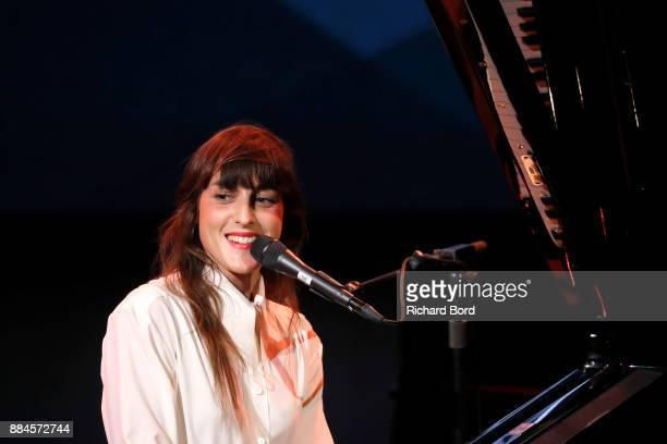 Juliette Armanet performs during the Introductory Session To The 7th Summit Of Les Napoleons at Maison de la Radio on December 2 2017 in Paris France