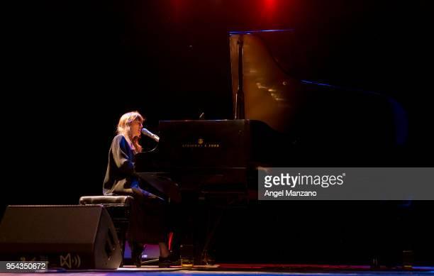 Juliette Armanet performs in concert on May 3 2018 in Madrid Spain