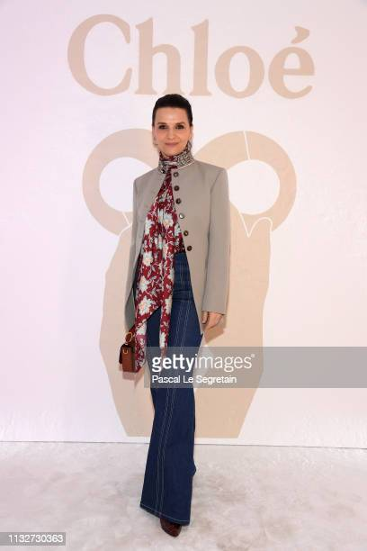 Juliette Binoattends the Chloe show as part of the Paris Fashion Week Womenswear Fall/Winter 2019/2020 on February 28 2019 in Paris France