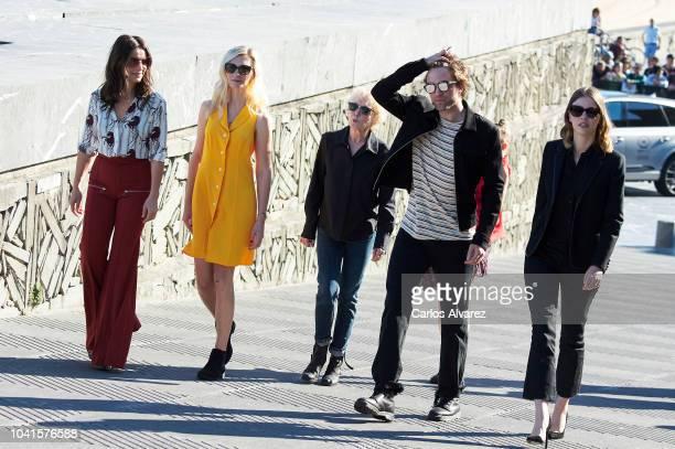 Juliette Binoche Agata Buzek director Claire Denis Robert Pattinson and Mia Goth attend the 'High Life' photocall during the 66th San Sebastian...