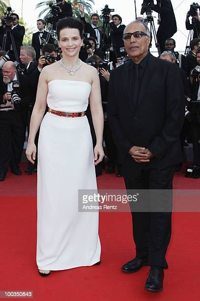 Juliette Binoche and Abbas Kiarostami attend the Palme d'Or Award Closing Ceremony held at the Palais des Festivals during the 63rd Annual Cannes...