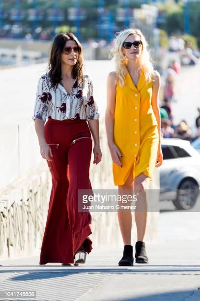 Juliette Binoche and Agata Buzek attend the 'High Life' photocall during the 66th San Sebastian International Film Festival on September 27 2018 in...