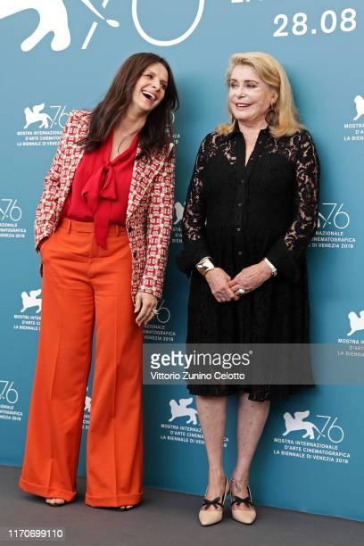 "Juliette Binoche and Catherine Deneuve attend ""La Vérité"" photocall during the 76th Venice Film Festival at Sala Grande on August 28, 2019 in Venice,..."