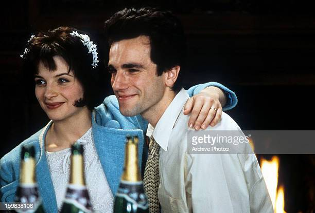 Juliette Binoche and Daniel DayLewis in a scene from the film 'The Unbearable Lightness Of Being' 1988