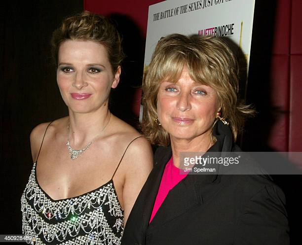Juliette Binoche and Director Daniele Thompson during Jet Lag Premiere New York at Bryant Park Screening Room in New York City New York United States