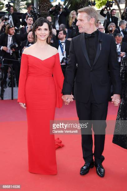 Juliette Binoche and Lambert Wilson attend the The Killing Of A Sacred Deer screening during the 70th annual Cannes Film Festival at Palais des...