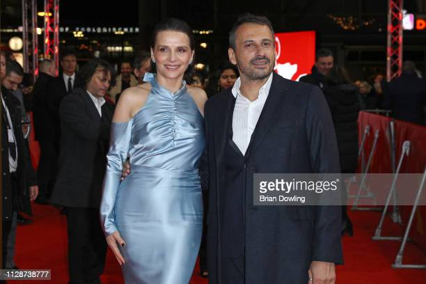 "Juliette Binoche and Safy Nebbou attend the ""Celle que vous croyez"" premiere during the 69th Berlinale International Film Festival Berlin at Zoo..."