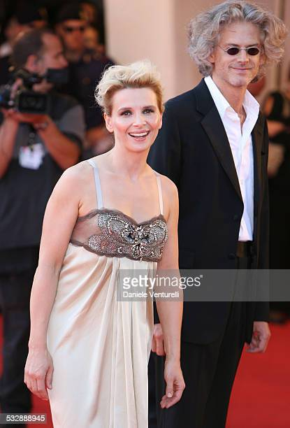 Juliette Binoche and Santiago Amigorena director during The 63rd International Venice Film Festival 'Quelques Jours En Septembre' Premiere at Palazzo...