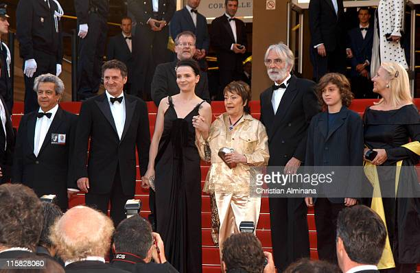 Juliette Binoche Annie Girardot Daniel Auteuil and cast of cache