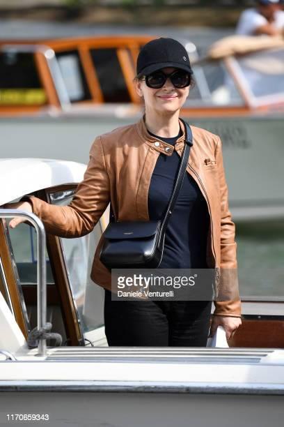 Juliette Binoche arrives at the 76th Venice Film Festival on August 28 2019 in Venice Italy