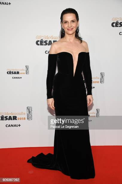 Juliette Binoche arrives at the Cesar Film Awards 2018 at Salle Pleyel on March 2 2018 in Paris France