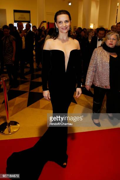 Juliette Binoche red carpet César 2018