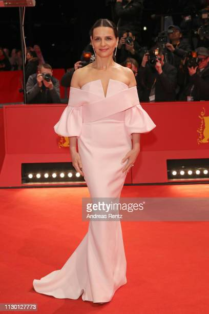 Juliette Binoche arrives for the closing ceremony of the 69th Berlinale International Film Festival Berlin at Berlinale Palace on February 16 2019 in...