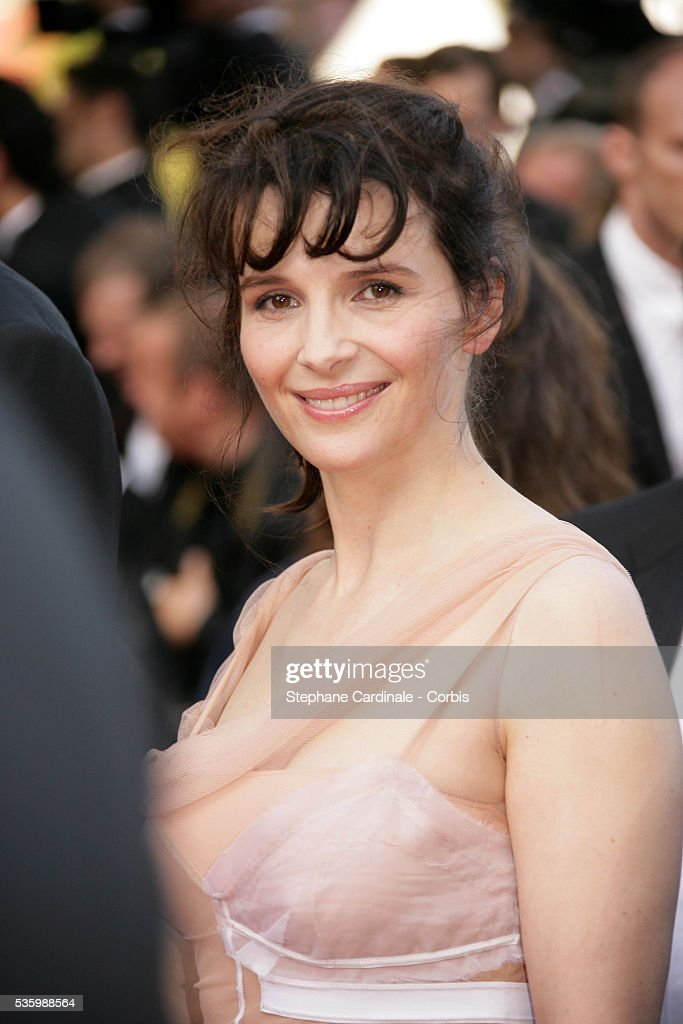Juliette Binoche at the premiere of 'The Da Vinci Code' during the 59th Cannes Film Festival.
