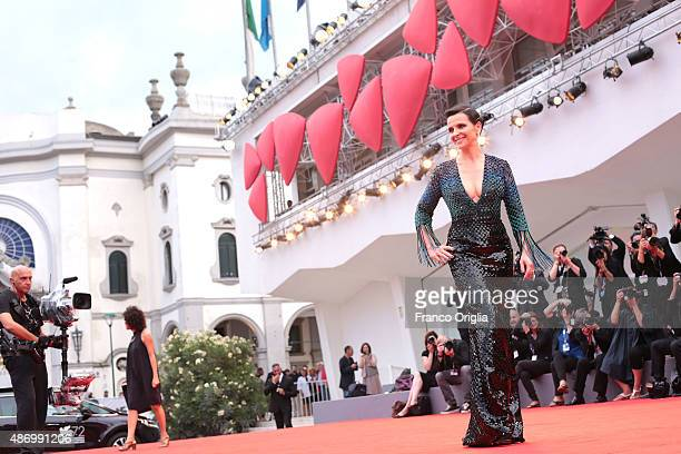 Juliette Binoche attends a premiere for 'The Wait' during the 72nd Venice Film Festival at on September 5 2015 in Venice Italy