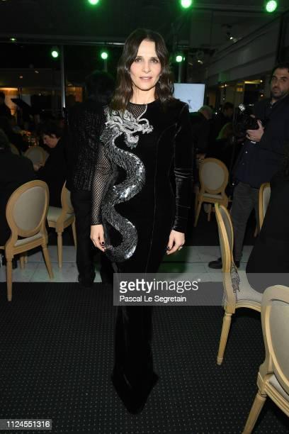 """Juliette Binoche attends the 17th """"Diner De La Mode"""" as part of Paris Fashion Week on January 22, 2019 in Paris, France."""