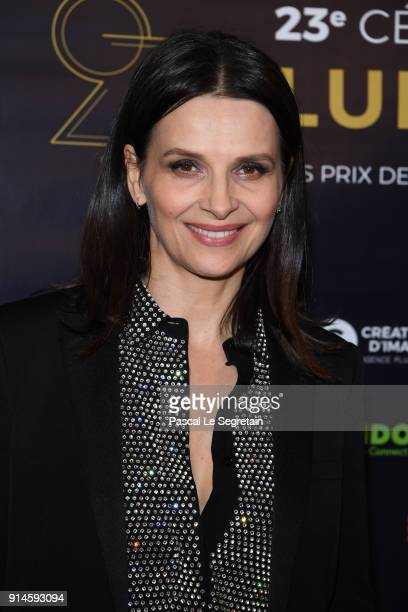 Juliette Binoche attends the 23rd Lumieres Award Ceremony at Institut du Monde Arabe on February 5 2018 in Paris France