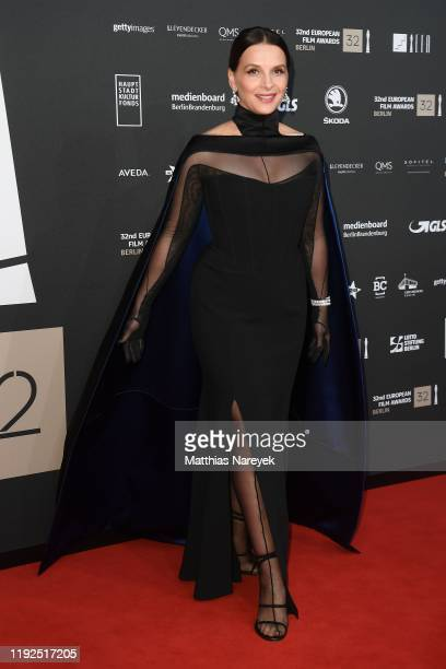 Juliette Binoche attends the 32nd European Film Awards at Haus Der Berliner Festspiele on December 07, 2019 in Berlin, Germany.