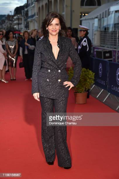 Juliette Binoche attends the 33rd Cabourg Film Festival : Day Four on June 15, 2019 in Cabourg, France.
