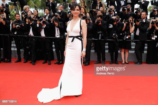 "Juliette Binoche attends the ""Amant Double "" screening during the 70th annual Cannes Film Festival at Palais des Festivals on May 26, 2017 in Cannes,..."