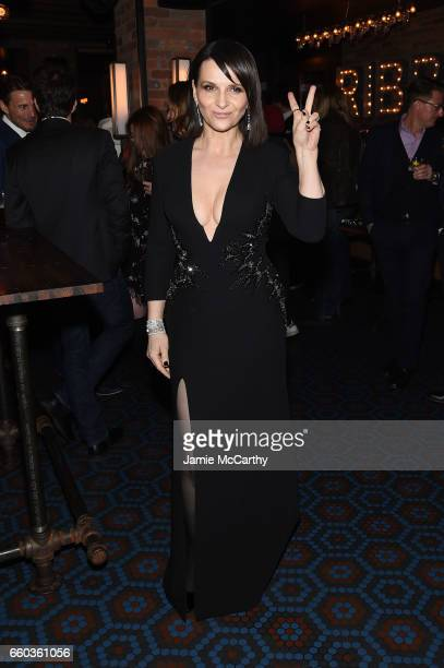 Juliette Binoche attends the 'Ghost In The Shell' premiere after party hosted by Paramount Pictures DreamWorks Pictures at The Ribbon on March 29...