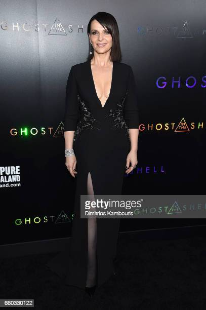 """Juliette Binoche attends the """"Ghost In The Shell"""" premiere hosted by Paramount Pictures & DreamWorks Pictures at AMC Lincoln Square Theater on March..."""